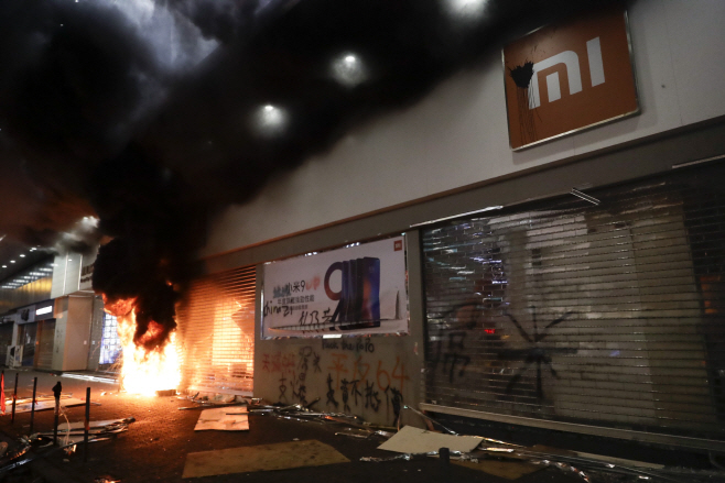 Hong Kong Protests <YONHAP NO-5185> (AP)