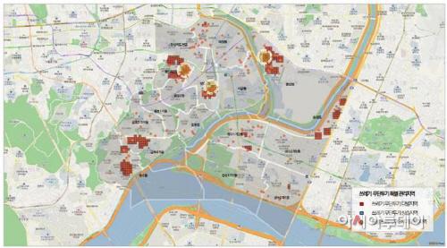 쓰레기 무단투기분석 데이터 화면