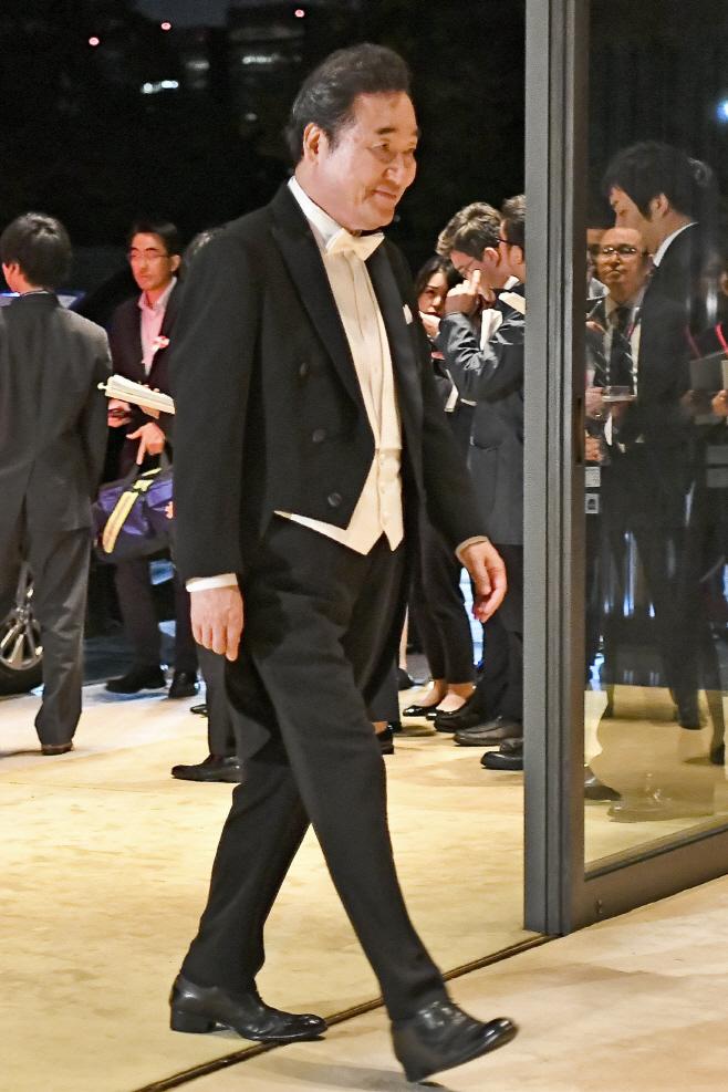 이낙연 총리, 일본 궁정연회 참석<YONHAP NO-1884>