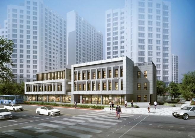 고덕 센트럴 아이파크 상가 투시도 (1)