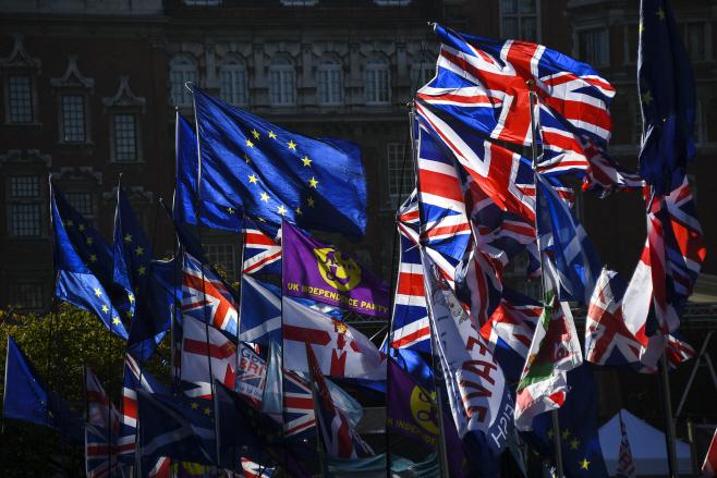 Britain Brexit <YONHAP NO-5142> (AP)