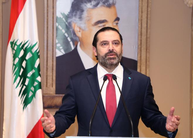LEBANON-BEIRUT-PM-RESIGNATION <YONHAP NO-0527> (XINHUA)
