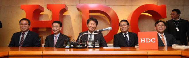 '아시아나 우선협상자 발표' 관련 정몽규 회장 기자회견