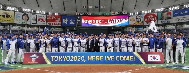 한국 야구, 12년 만의 올림픽 화려한 복귀<YONHAP NO-5984>