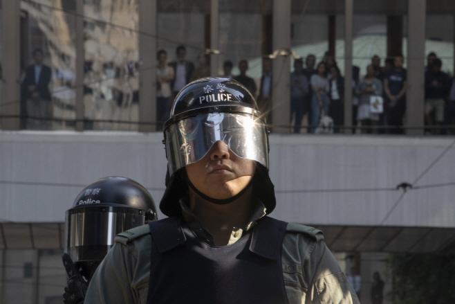 Hong Kong Protests <YONHAP NO-5160> (AP)