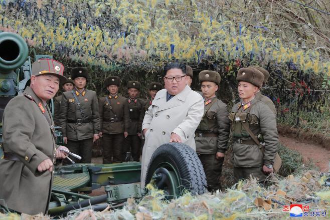 북한 김정은 위원장, 창린도 방어대 시찰