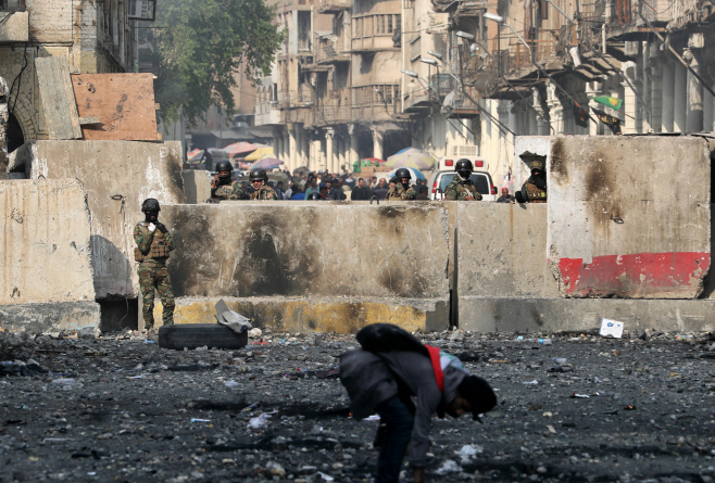 Iraq Protests <YONHAP NO-0183> (AP)