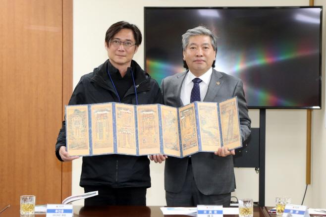 송한준 의장, 대만 단수이 청년회의소 방문단 영접