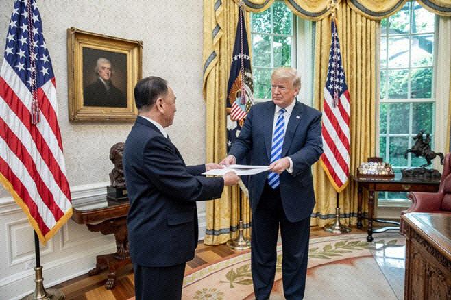 트럼프 김영철 백악관