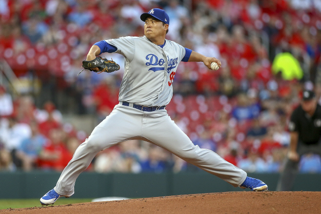 Dodgers Cardinals Baseball <YONHAP NO-1759> (AP)