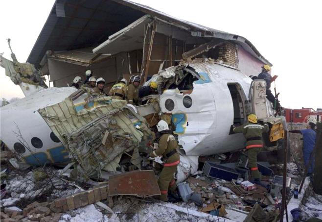 Kazakhstan Plane Crash <YONHAP NO-1569> (AP)