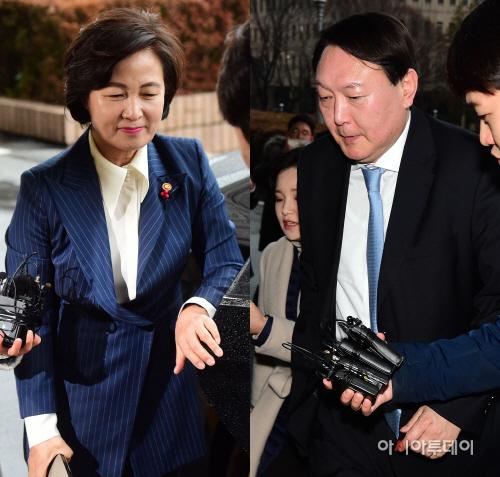 [포토] 추미애-윤석열 첫 공식 회동