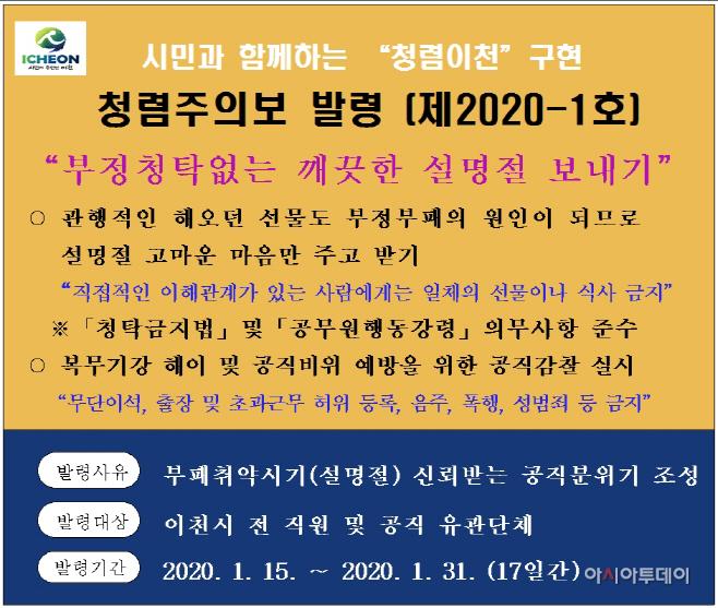 청렴주의보(제2020-1호)