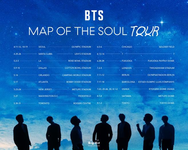 방탄소년단_BTS MAP OF THE SOUL TOUR_개최 공지 포스터