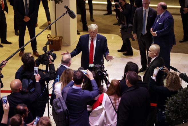 Switzerland Davos Forum Trump