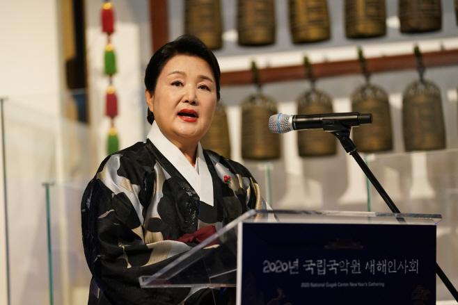 김정숙 여사, 국악계 신년인사회 참석