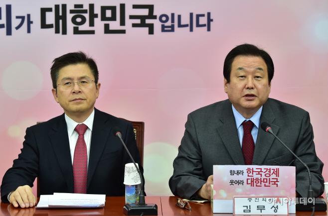 [포토] 최고·중진의원 연석회의 발언하는 김무성