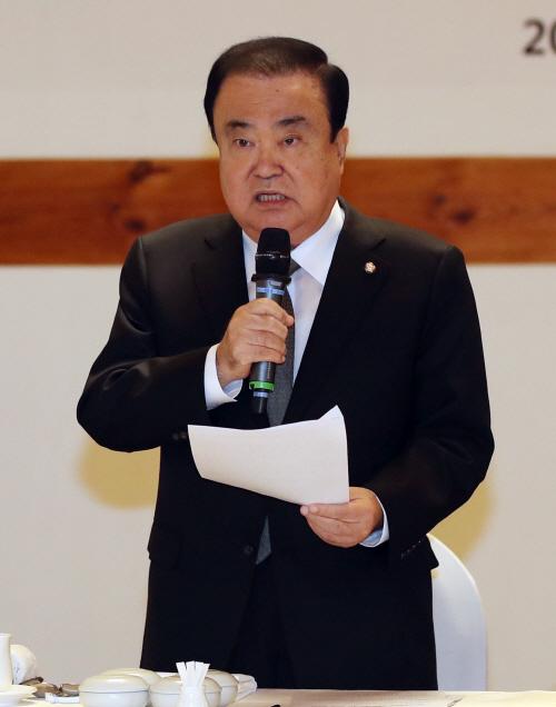 문희상, 중소기업중앙회 임원단과 오찬 간담회<YONHAP NO-3536>