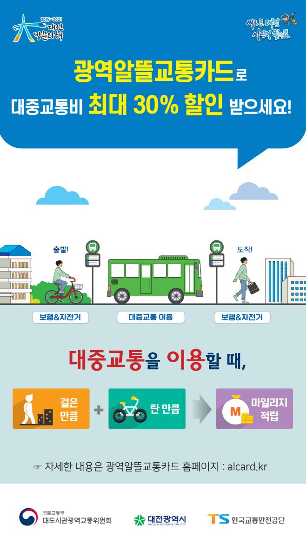 대전 광역알뜰교통카드 홍보포스터