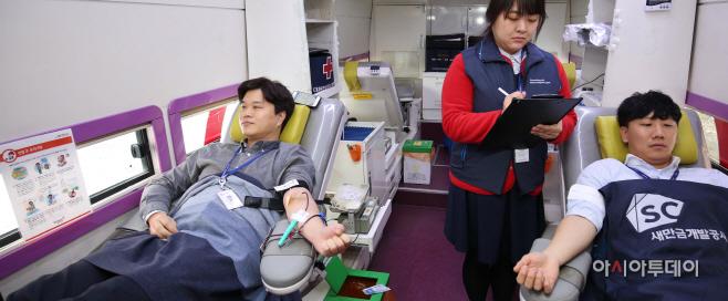 200217 새만금청  개발공사 코로나 대응 단체 헌혈 시행 (2)