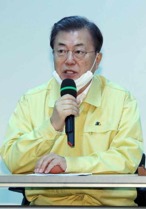 대구 상인 간담회 참석한 문 대통령