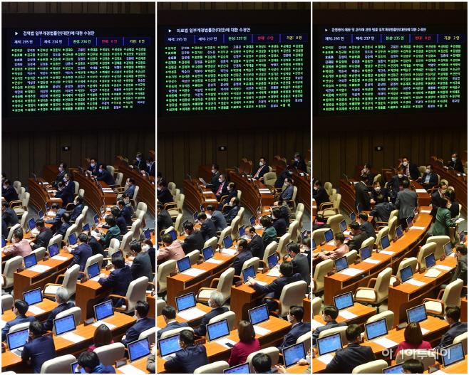 [포토] 국회 본회의…'코로나 3법' 통과