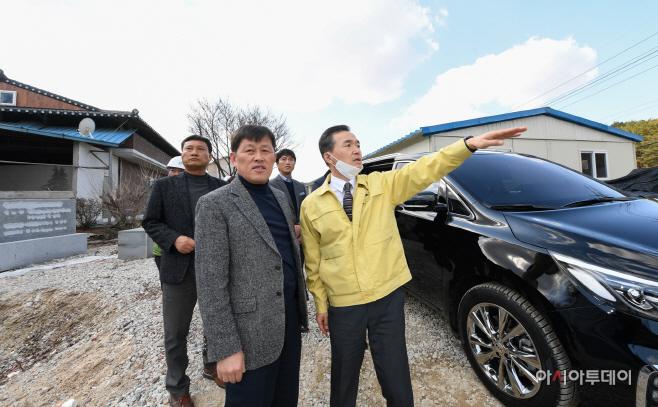 이항진 여주시장, 대규모 도로개설 공사현장 점검