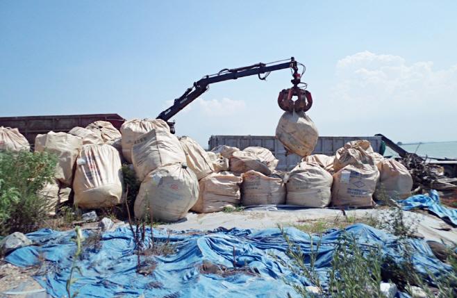 아산시 낚시터 쓰레기 환경정화