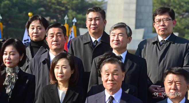 미래한국당 비례대표, 현충원 참배