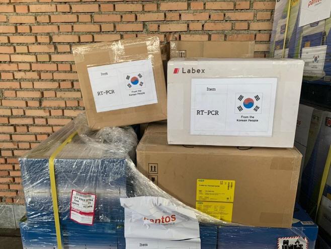 한국, 코로나19 의료·방역 지원 장비 이란에 전달