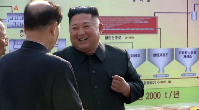 김정은의 미소<YONHAP NO-2939>