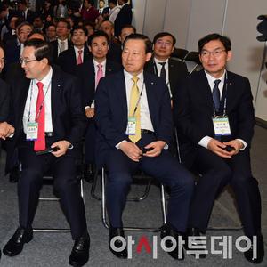[포토] '코리아 핀테크 위크 2019' 참석한 금융지주 회장들
