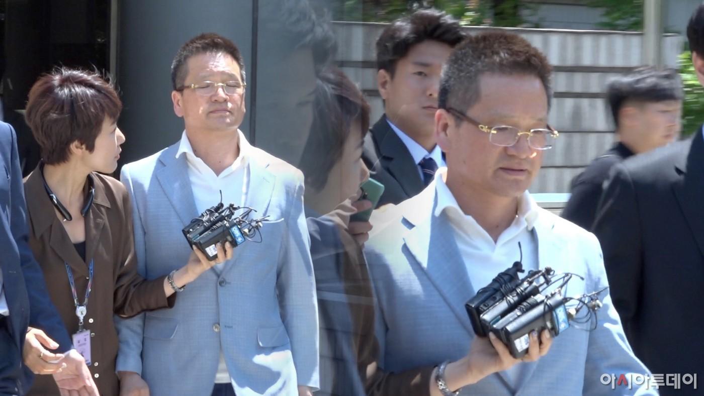 '김학의 사건'의 핵심인물 윤중천, 구속영장심사···'묵묵부답' 구치소행