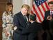 트럼프 대통령 일본 국빈방문, TV 생중계, 랜드마크 성..