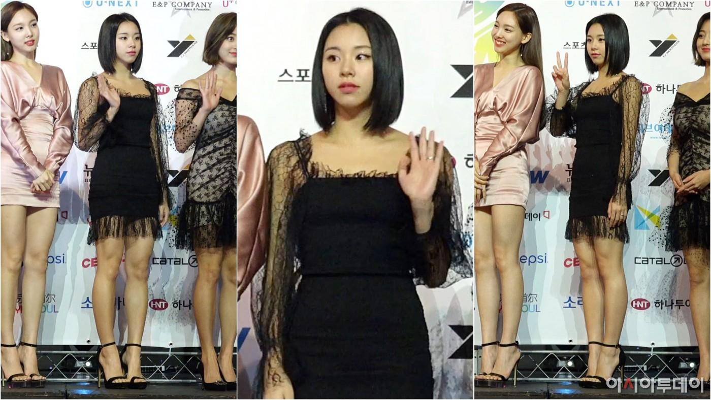 '트와이스' 채영 세로직캠 ('TWICE' Chaeyeong), 매력적인 블랙 원피스 (2019 소리비다 어워즈)