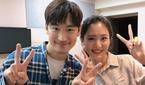 """이영은 아나운서, 이제훈 옆에서 팬심 폭발 미소 """"부럽지.."""