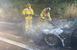 제네시스 G80 고속도로 화재…트럭부품 마찰 원인