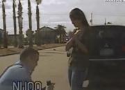 美 경찰의 로맨틱한 차량 검문