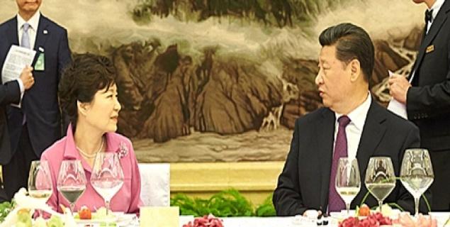 朴대통령, 시진핑과 오찬…한·중 협력 재확인