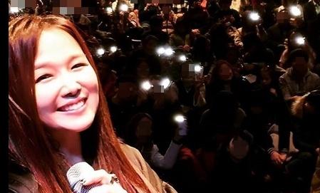 서영은, 콘서트 중 팬들과 인증샷 '여전한 동안미모'