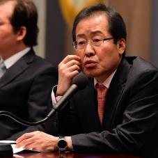 홍준표, 편집인협회 초청 세미나 참석