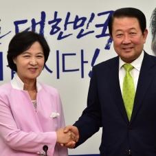 추미애 대표 찾은 박주선 신임 비대위원장