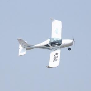 2인승 경량항공기 초도 비행기념행사