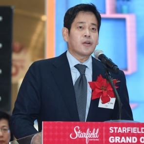 스타필드 고양 오픈식 참석한 정용진 부회장