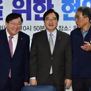 우원식-김주영 '사회적대타협 대화?'