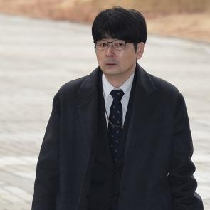 법정 향하는 탁현민 청와대 행정관