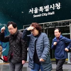 서울시 화재대비 대피훈련
