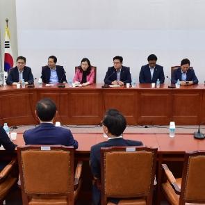 한자리에 모인 자유한국당 초선의원들