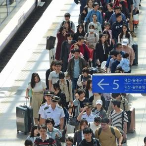 귀경객 붐비는 서울역