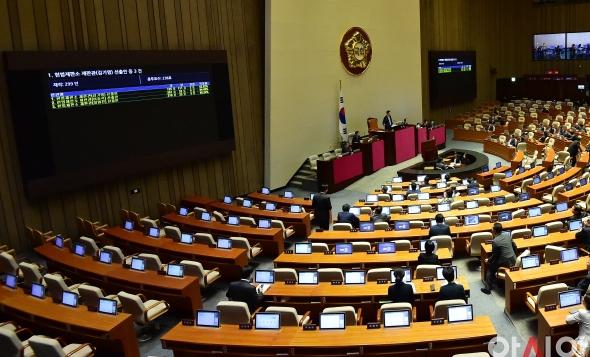 헌법재판관 후보자 3인 선출안 가결